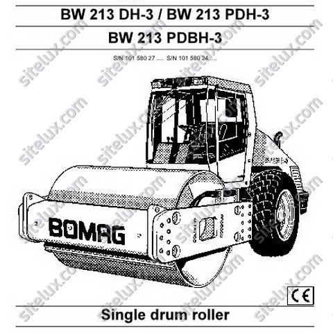 bomag bw 213 dh 3 pdh 3 pdbh 3 single drum roller oper rh sellfy com