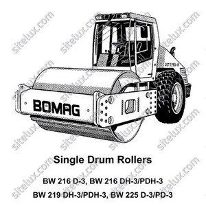 Bomag BW 216/219/225 Single Drum Rollers Service Training