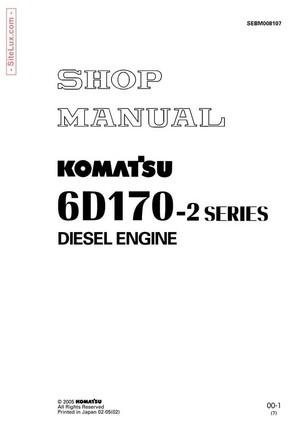 Komatsu 6D170-2 Series Diesel Engine Shop Manual - SEBM008107