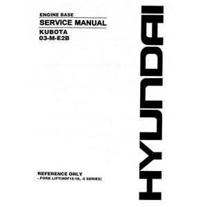 Kubota 03-M-E2B Engine Base Service Manual