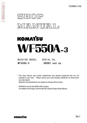 Komatsu WF550A-3 Trash Compactor Shop Manual - SEBMW01700
