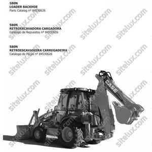 Case 580N Loader Backhoe Parts Catalog - 84530626