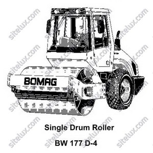 Bomag BW 177 D-4 Single Drum Roller Service Training