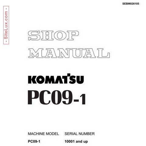 Komatsu PC09-1 Mini Excavator (10001 and up) Shop Manual - SEBM026105