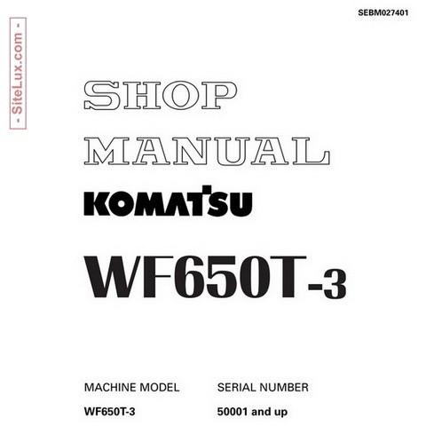 Komatsu WF650T-3 Trash Compactor (50001-up) Shop Manual - SEBM027401