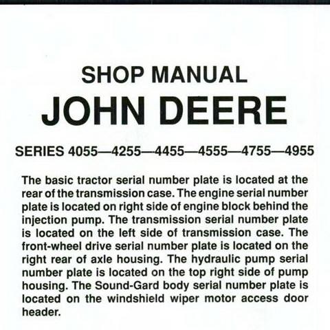 john deere series 4055 4255 4455 4555 4755 4955 tracto rh sellfy com