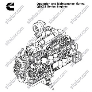 Cummins QSK23 Series Engines Operation and Maintenance Manual