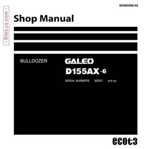 Komatsu D155AX-6 Bulldozer (80001 and up) Shop Manual - SEN00596-04