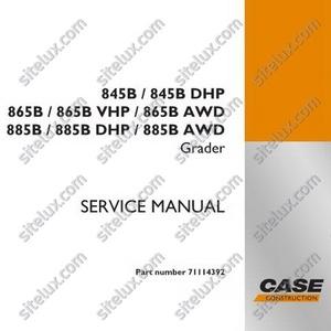 Case 845B-885B AWD Motor Grader Service Manual