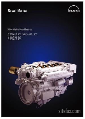 MAN Marine Diesel Engine D-2866.D-2876.LE-4xx.LE-301 Repair Manual