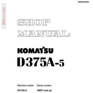 Komatsu D375A-5 Bulldozer (18001 and up) Shop Manual - SEBM023508
