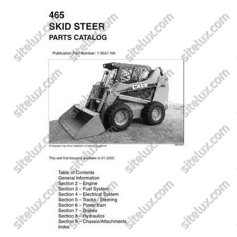 case 465 skid steer loader parts catalog rh sellfy com Case 1537 Skid Loader Clutches 6640 Gehl Skid Steer Parts Diagram