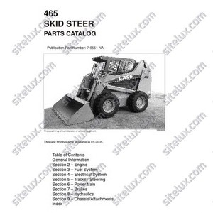 Case 465 Skid Steer Loader Parts Catalog