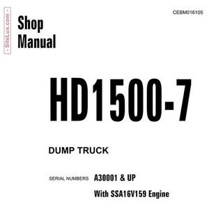 Komatsu HD1500-7 Dump Truck Shop Manual - CEBM016105