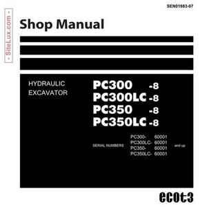 Komatsu PC300, 300LC, 350, 350LC-8 Hydraulic Excavator (60001 and up) Shop Manual - SEN01983-07