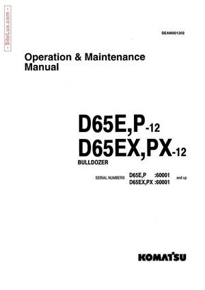 Komatsu D65E-12, D65P-12, D65EX-12, D65PX-12 Bulldozer Operation & Maintenance Manual - SEAM001202