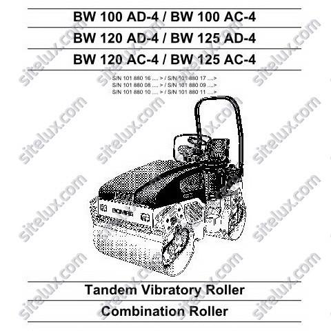 Bomag Tandem Vibratory Roller / Combination Roller Service Manual