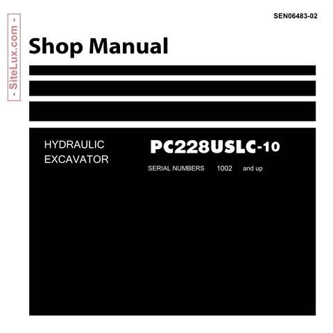 Komatsu PC228USLC-10 Hydraulic Excavator (1002 and up) Shop Manual - SEN06483-02