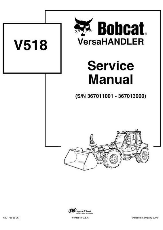 Bobcat V518 VersaHANDLER Service Manual - 6901769 (3-0