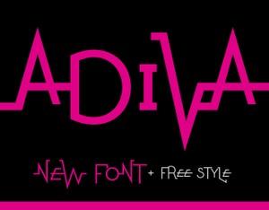 ADIVA - Eccentric Typeface