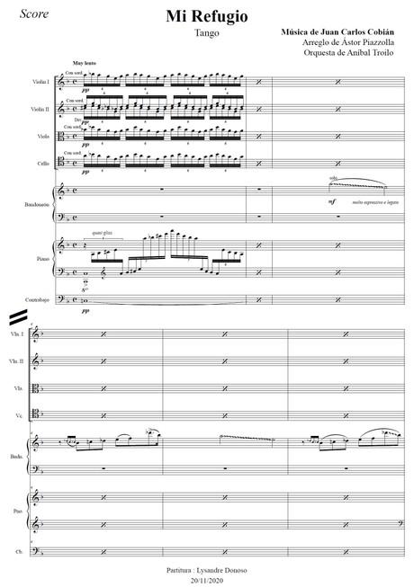 Mi Refugio (arr. Astor Piazzolla) - orquesta típica de Aníbal Troilo