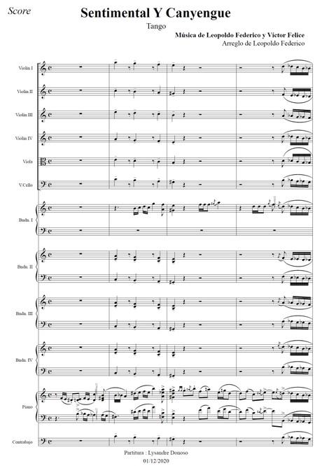 Sentimental Y Canyengue - orquesta típica de Leopoldo Federico