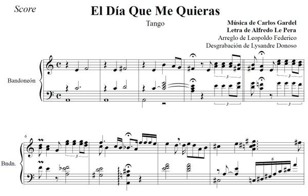 El Día Que Me Quieras (arr. Leopoldo Federico) - dúo bandoneón & voz