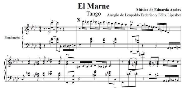 El Marne (arr. Leopoldo Federico) - bandoneón solo