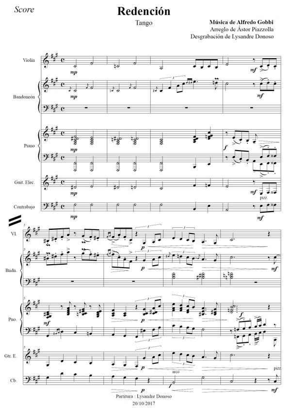 Redención - quinteto de Astor Piazzolla