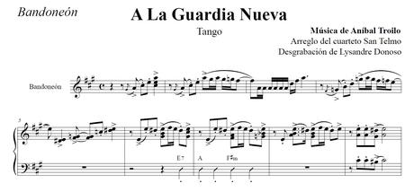 A La Guardia Nueva (arr. Federico-Grela) - bandoneón & guitarras