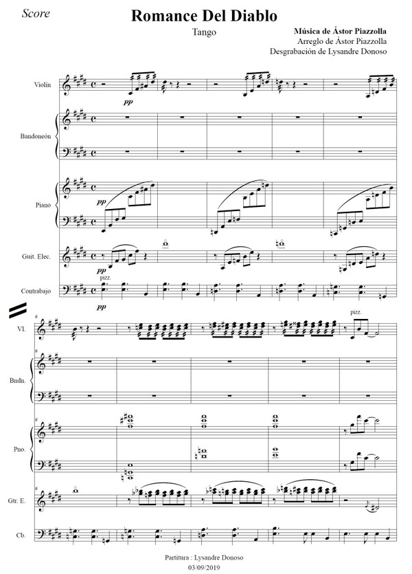 Romance Del Diablo - quinteto de Astor Piazzolla
