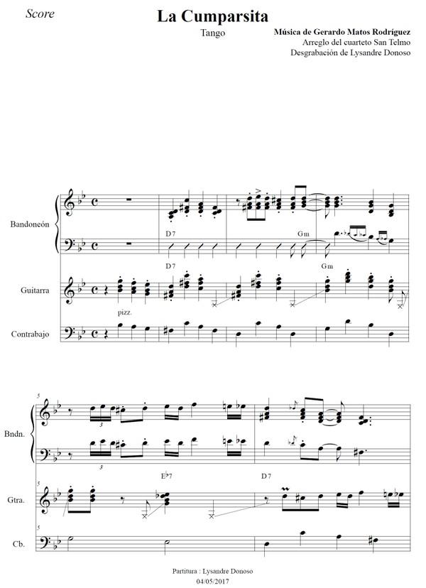 La Cumparsita (arr. Federico-Grela) - bandoneón & guitarras
