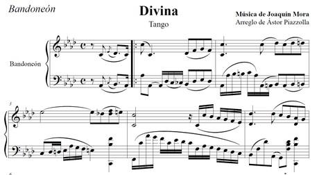 Divina (arr. Astor Piazzolla) - bandoneón solo