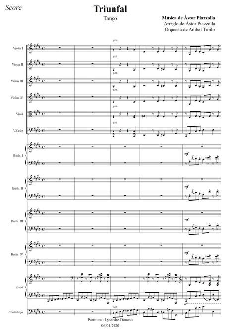 Triunfal (arr. Astor Piazzolla) - orquesta típica de Aníbal Troilo