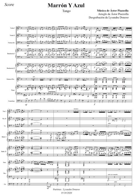 Marrón Y Azul - Octeto Buenos Aires de Astor Piazzolla