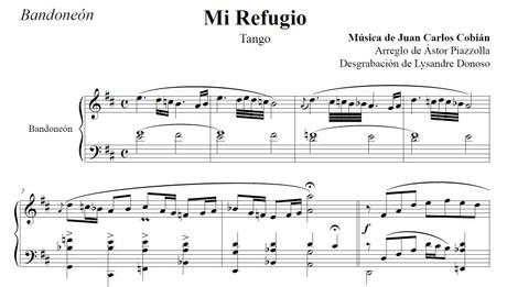 Mi Refugio (arr. Astor Piazzolla) - bandoneón solo