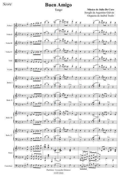 Buen Amigo (arr. Argentino Galván) - orquesta típica de Aníbal Troilo