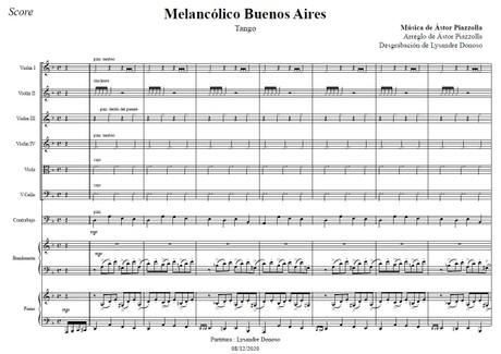 Melancólico Buenos Aires - Orquesta de cuerdas de Astor Piazzolla