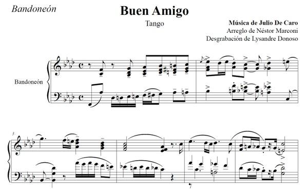 Buen Amigo (arr. Néstor Marconi) - bandoneón solo