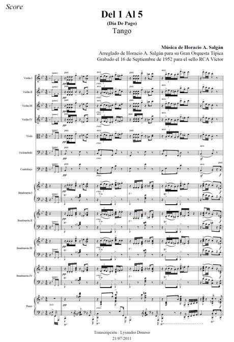 Del 1 Al 5 - orquesta típica de Horacio Salgán