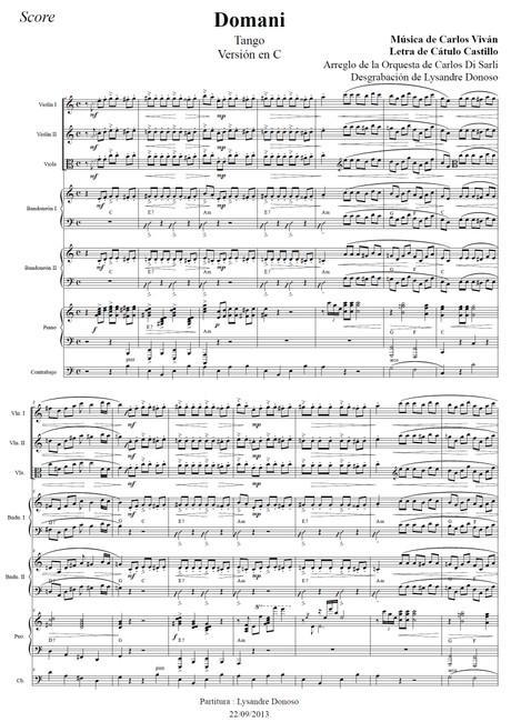 Domani - orquesta típica de Carlos Di Sarli