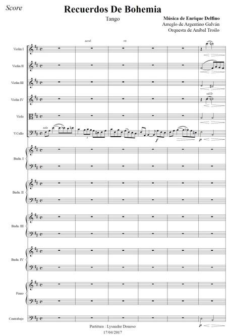Recuerdos De Bohemia (arr. Argentino Galván) - orquesta típica de Aníbal Troilo
