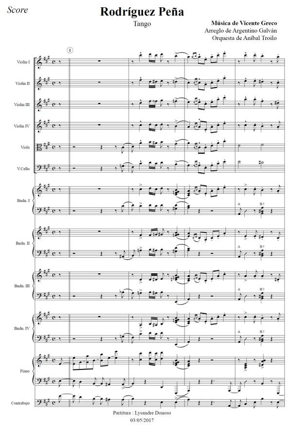 Rodríguez Peña (arr. Argentino Galván) - orquesta típica de Aníbal Troilo