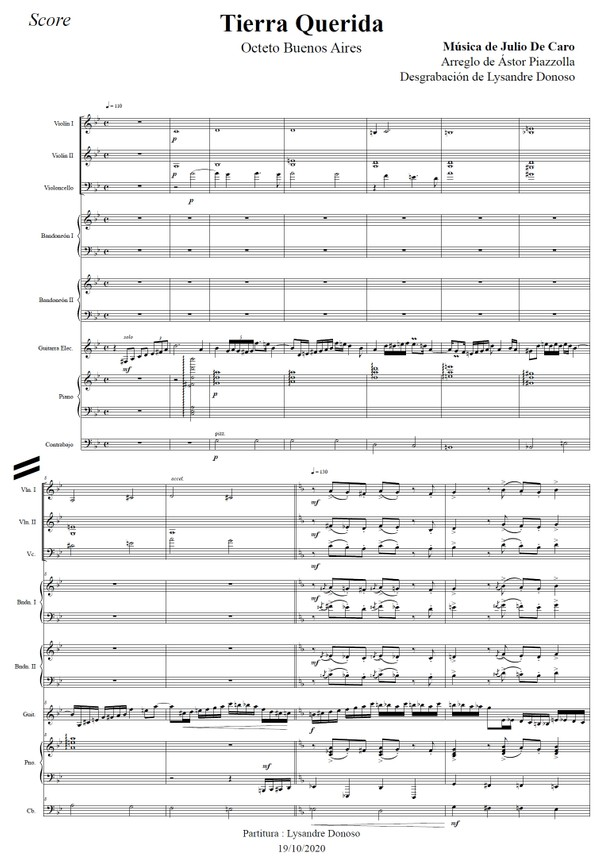 Tierra Querida - Octeto Buenos Aires de Astor Piazzolla