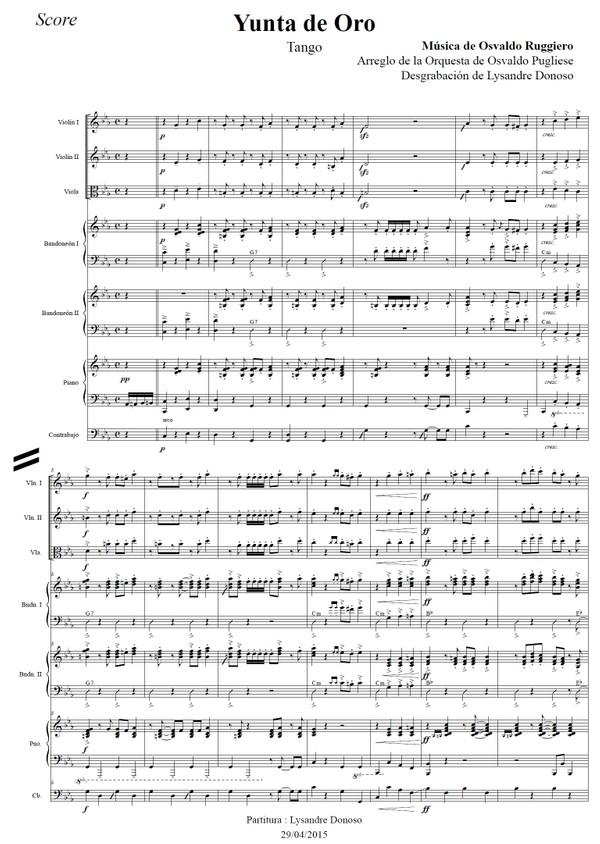Yunta De Oro - orquesta típica de Osvaldo Pugliese