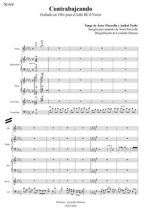 Contrabajeando - quinteto de Astor Piazzolla