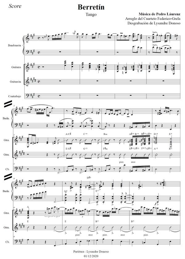 Berretín (arr. Federico-Grela) - bandoneón & guitarras