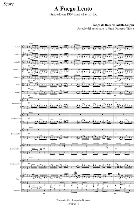 A Fuego Lento - orquesta típica de Horacio Salgán