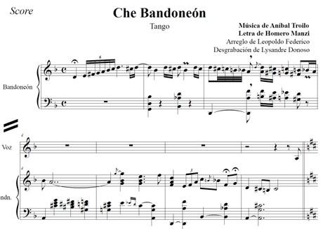 Che Bandoneón (arr. Leopoldo Federico) - dúo bandoneón & voz