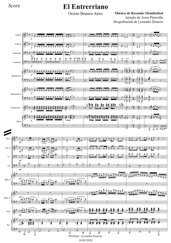 El Entrerriano - Octeto Buenos Aires de Astor Piazzolla